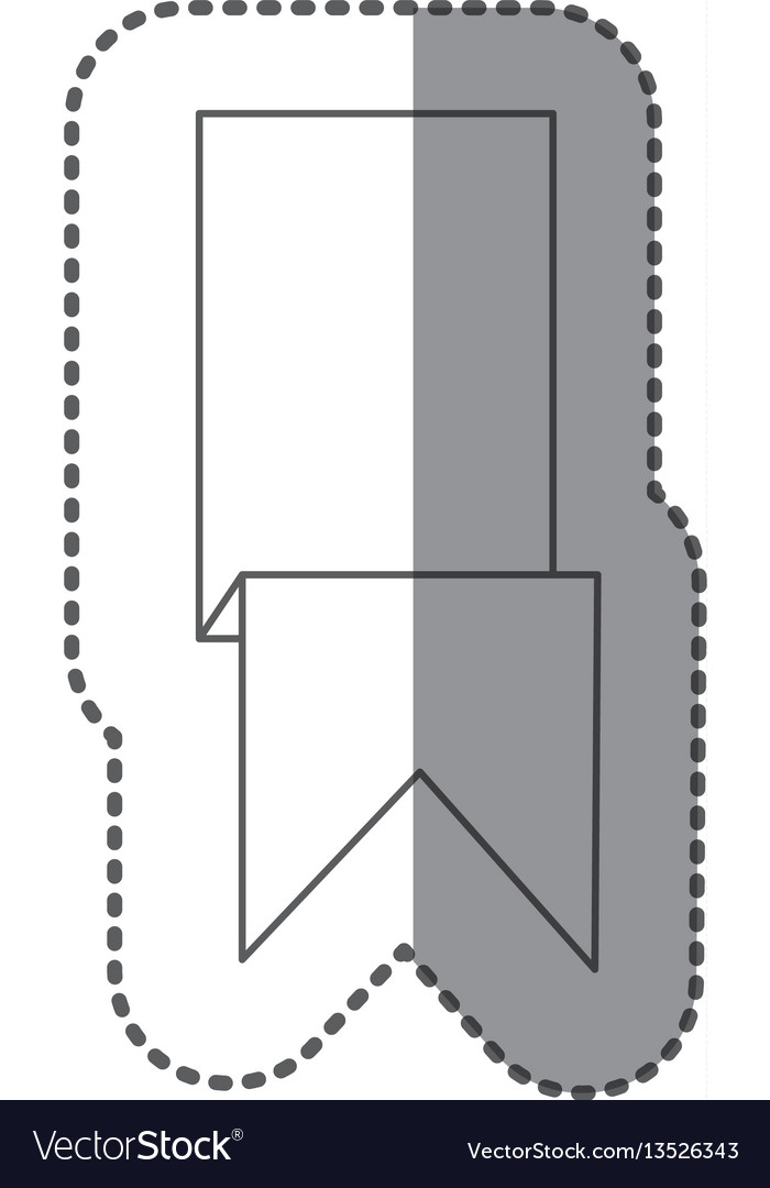 Figure sticker ribbon icon