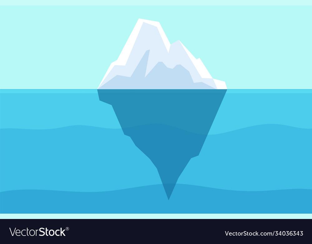 Iceberg floating in ocean arctic water sea