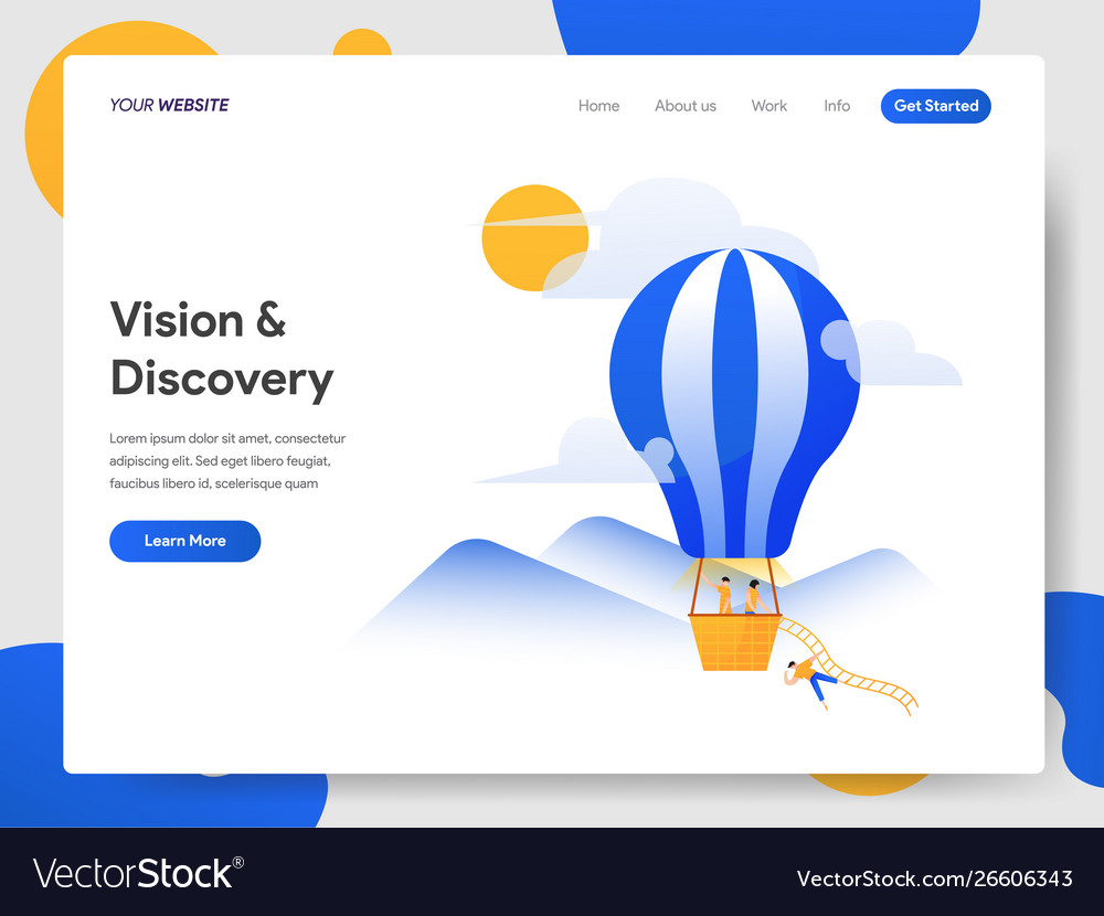 Landing page template vision and discovery