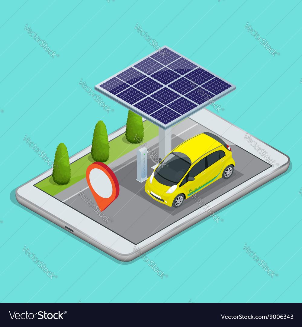 Mobile GPS navigation electric car charging