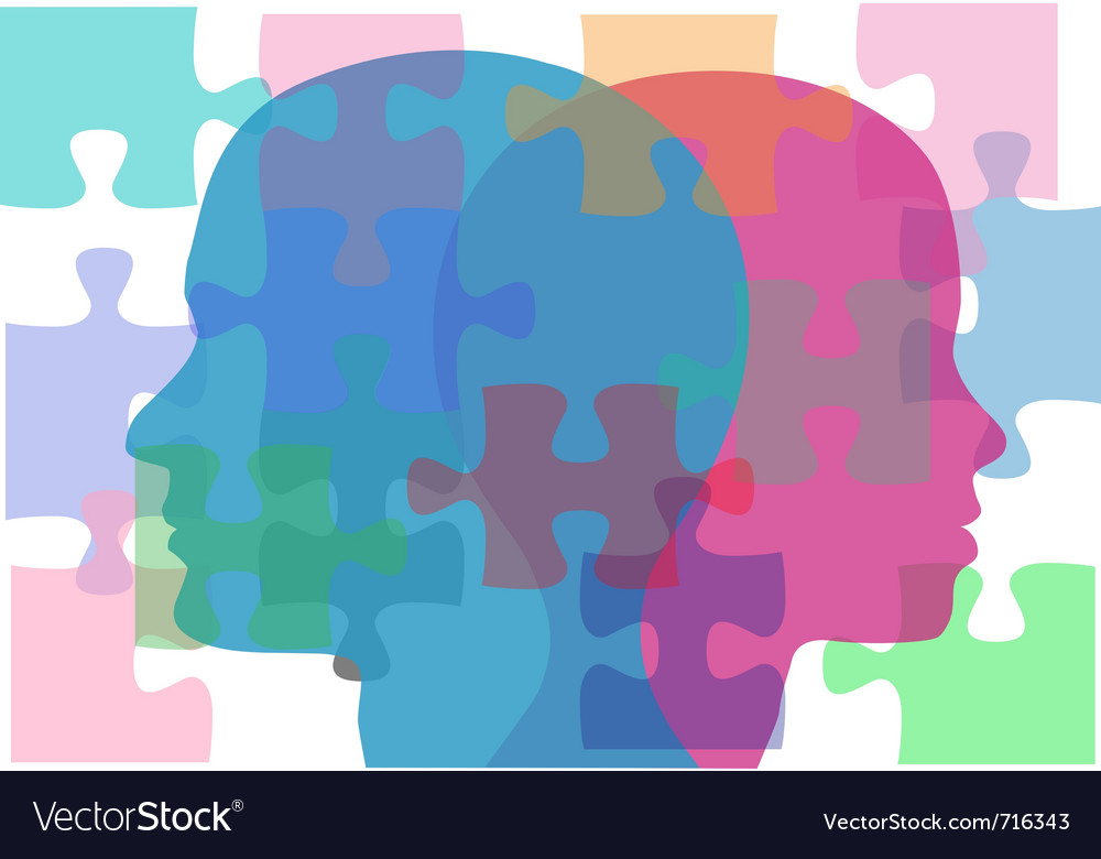 Puzzling background vector image