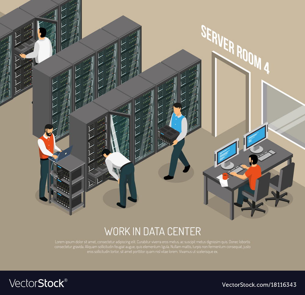 Work in data center isometric