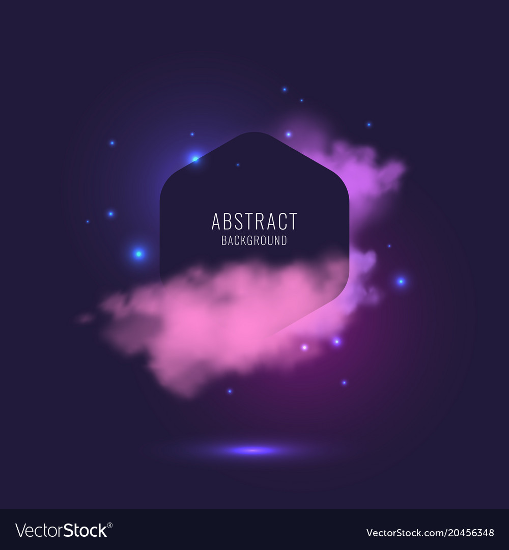 Abstract background with dynamic particles