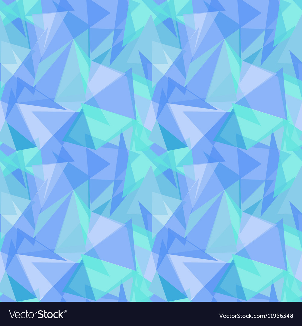 Abstract polygonal blue triangular seamless