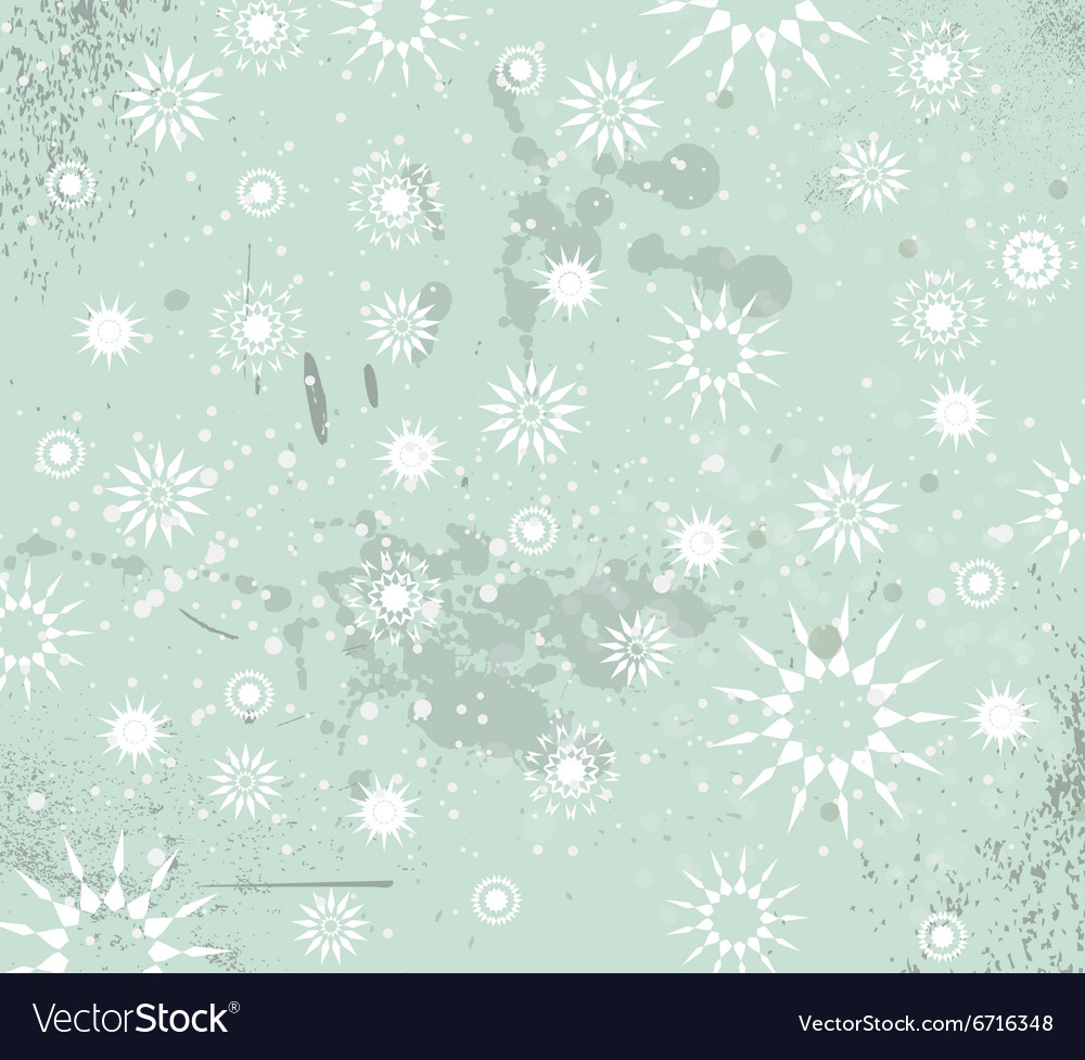 Christmas Vintage Background with drops snowflakes