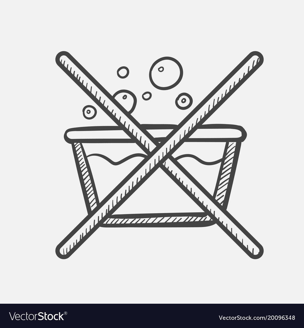 Do not washing label hand drawn sketch icon vector image