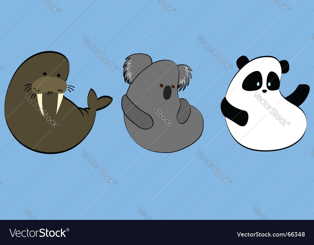 Icons of rare animals