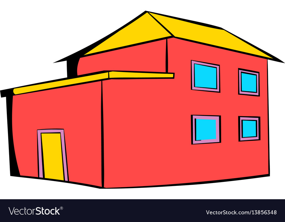 Red house icon icon cartoon vector image