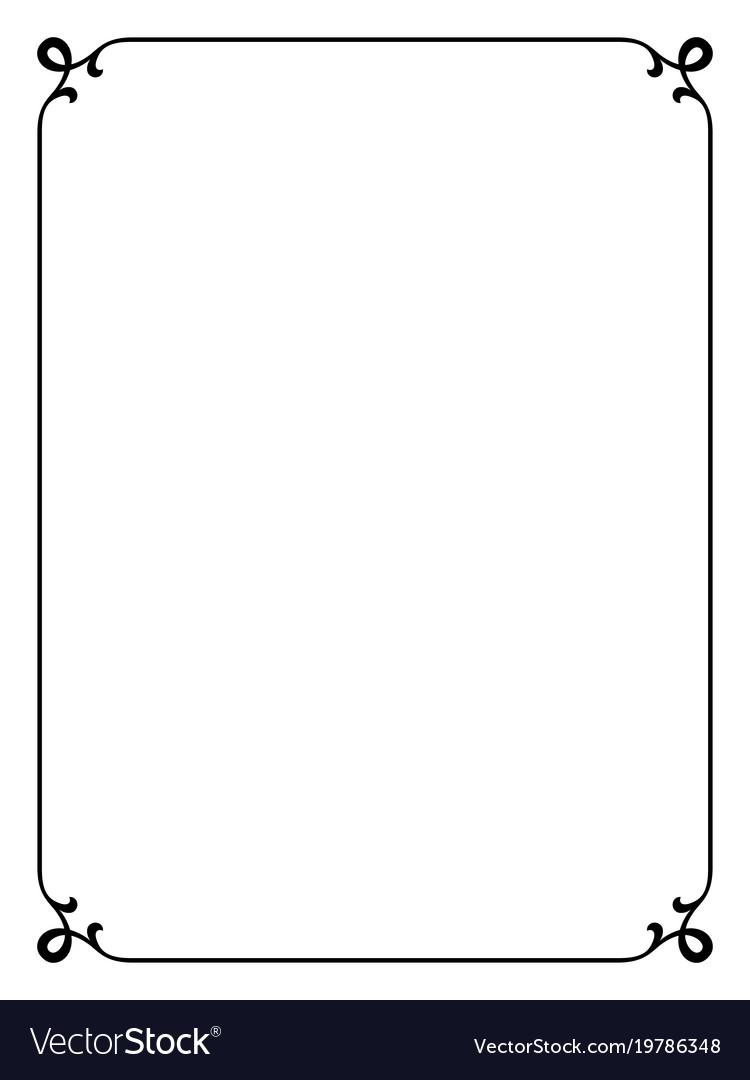 simple black ornamental decorative frame vector image