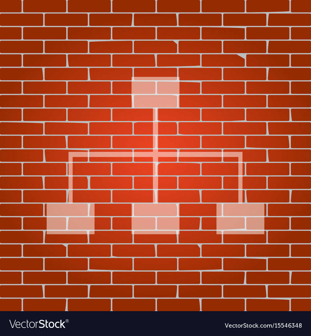 Site map sign whitish icon on brick wall