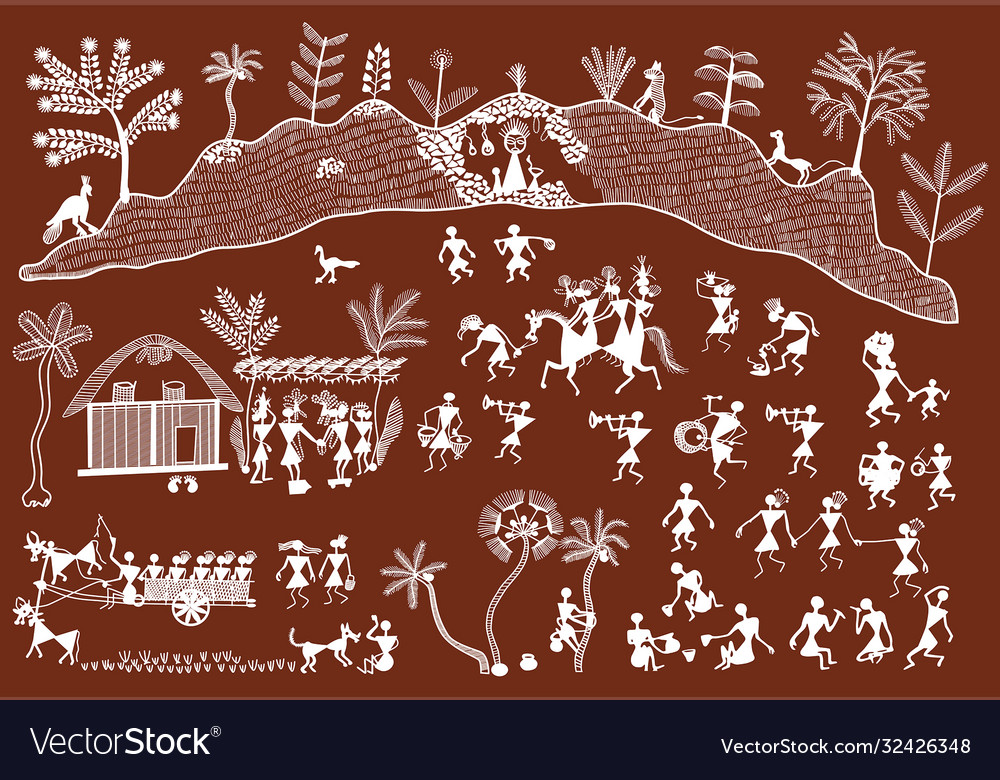 Traditional warli painting from northern
