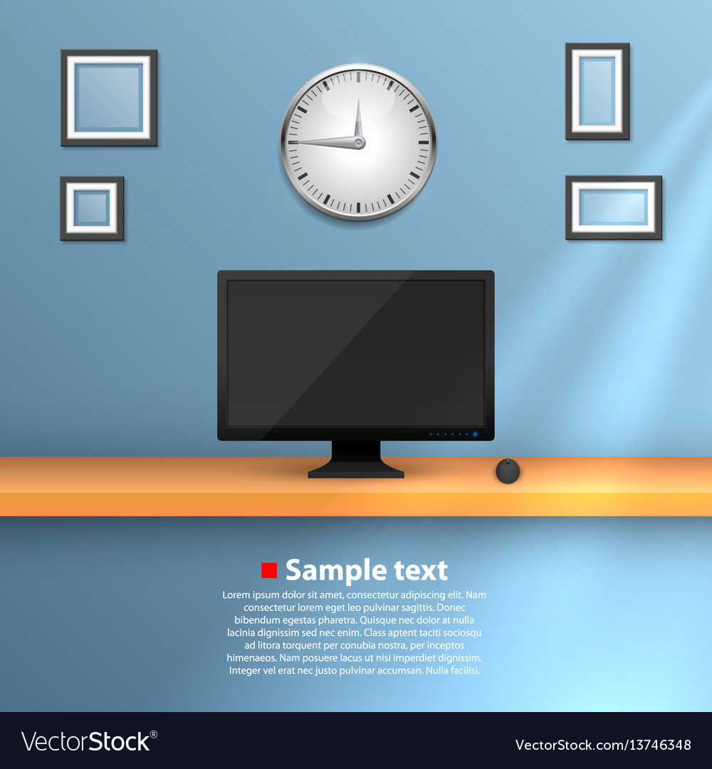 Wall with a computer vector