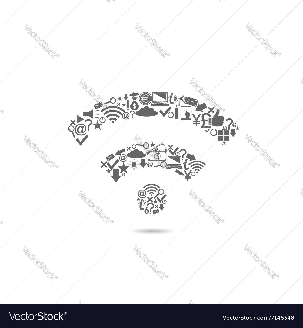 Wi Fi icon vector image