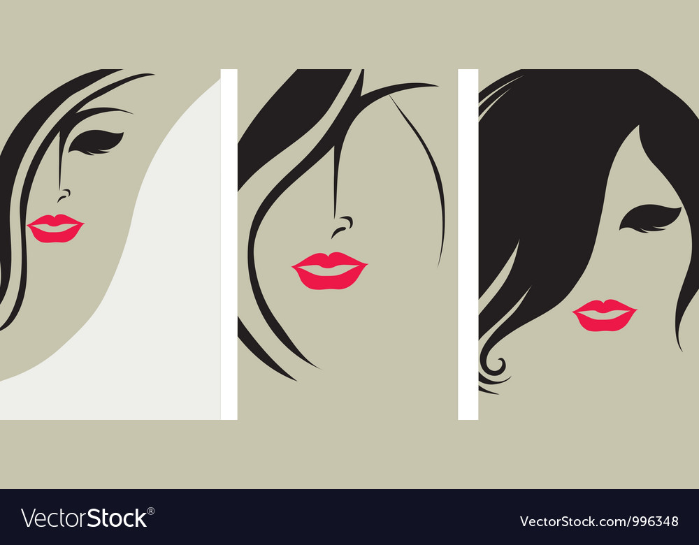 Woman hair back
