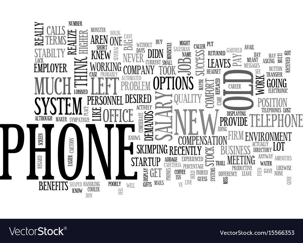 A phone by any other name text word cloud concept vector image