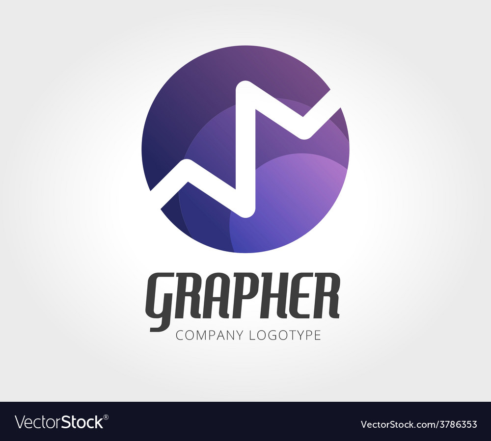abstract finance app logo template for royalty free vector