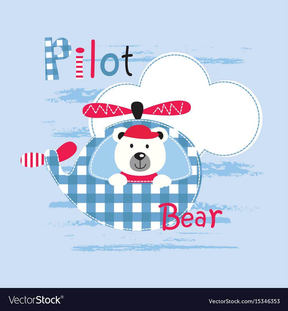 Cute with pilot bear