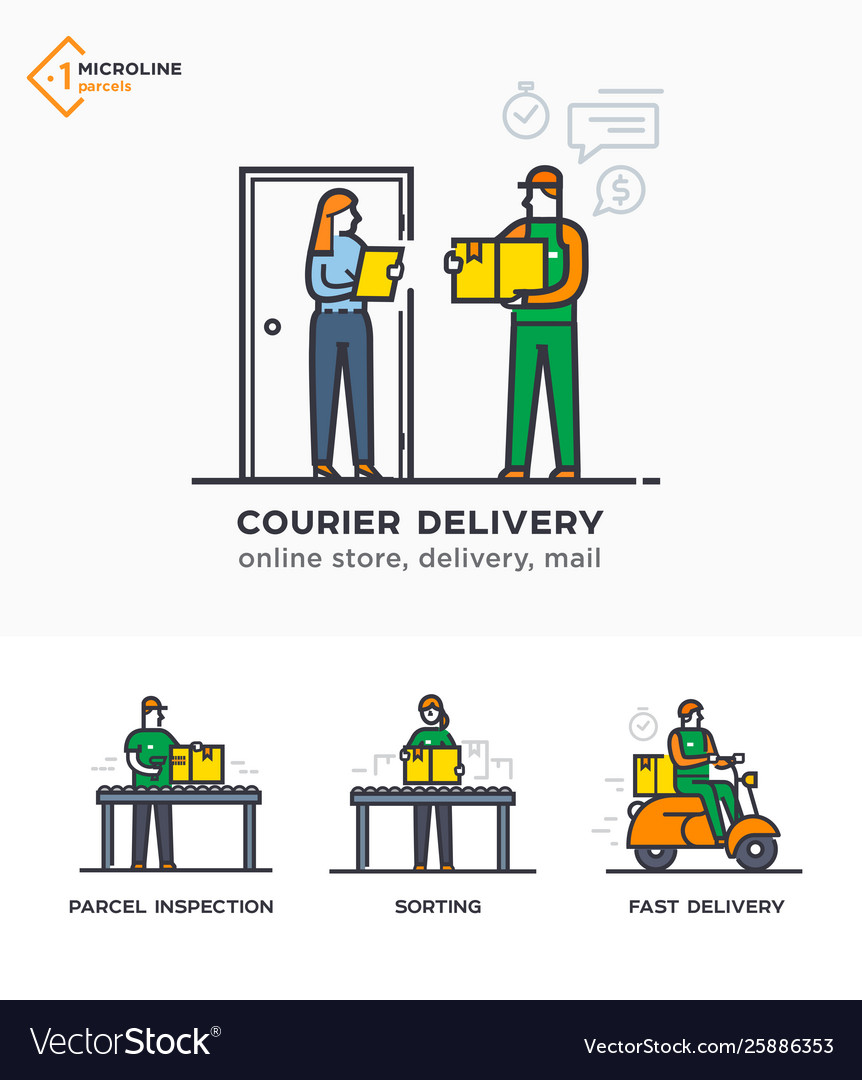Delivery service mail courier online ordering