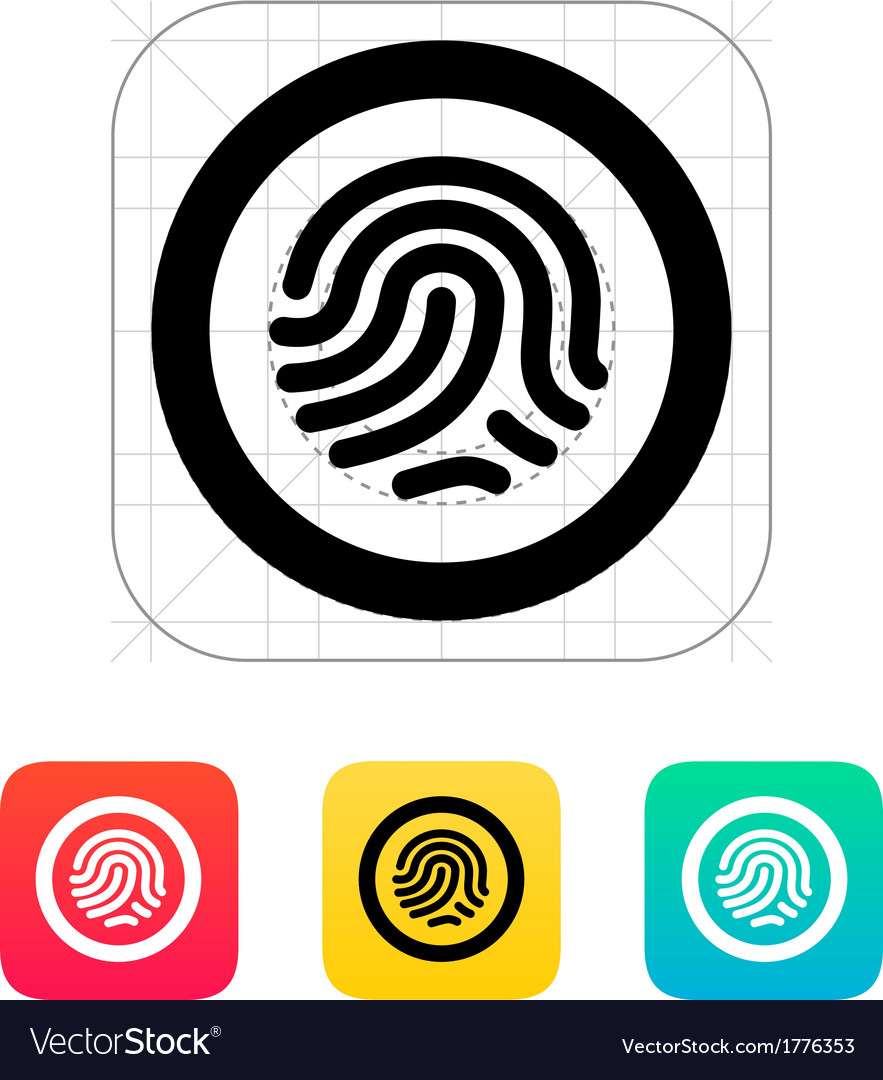 Fingerprint scanner icon vector image