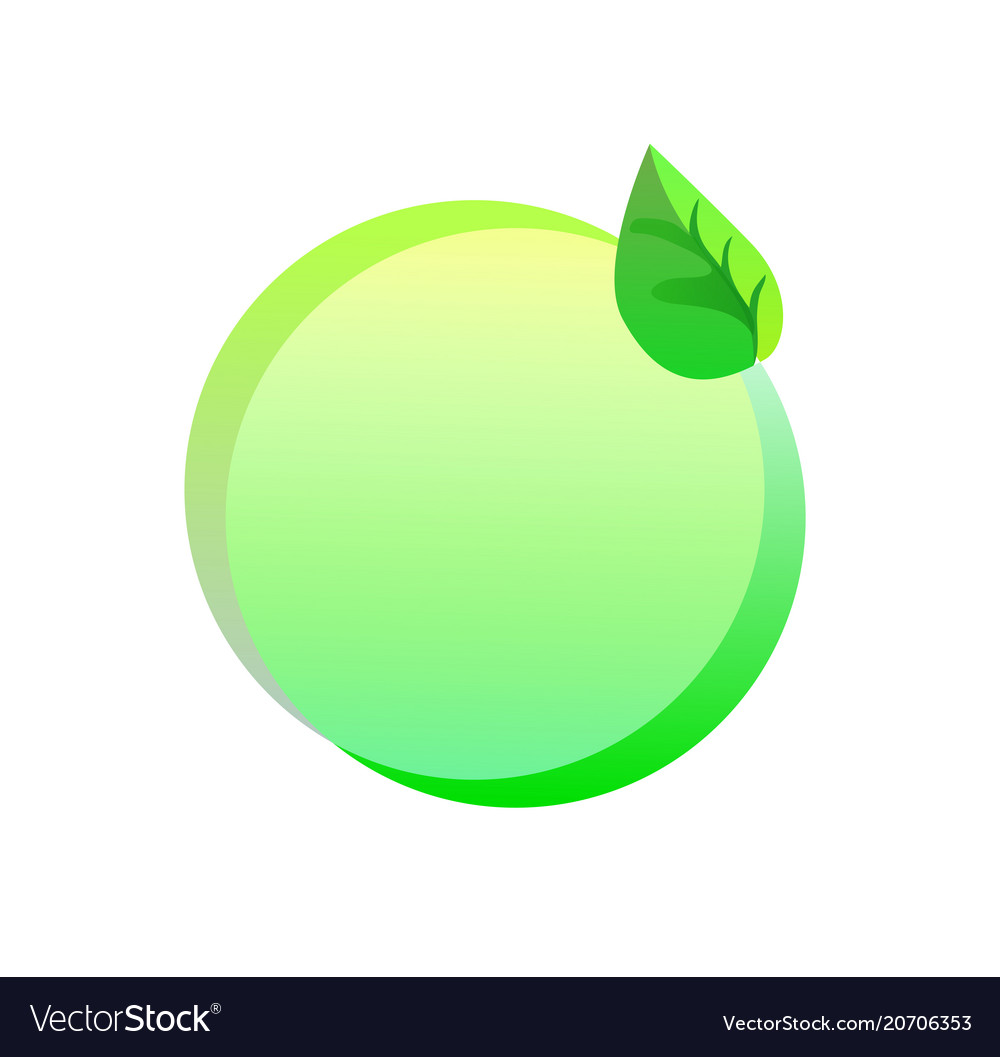 Green eco sticker on a white background