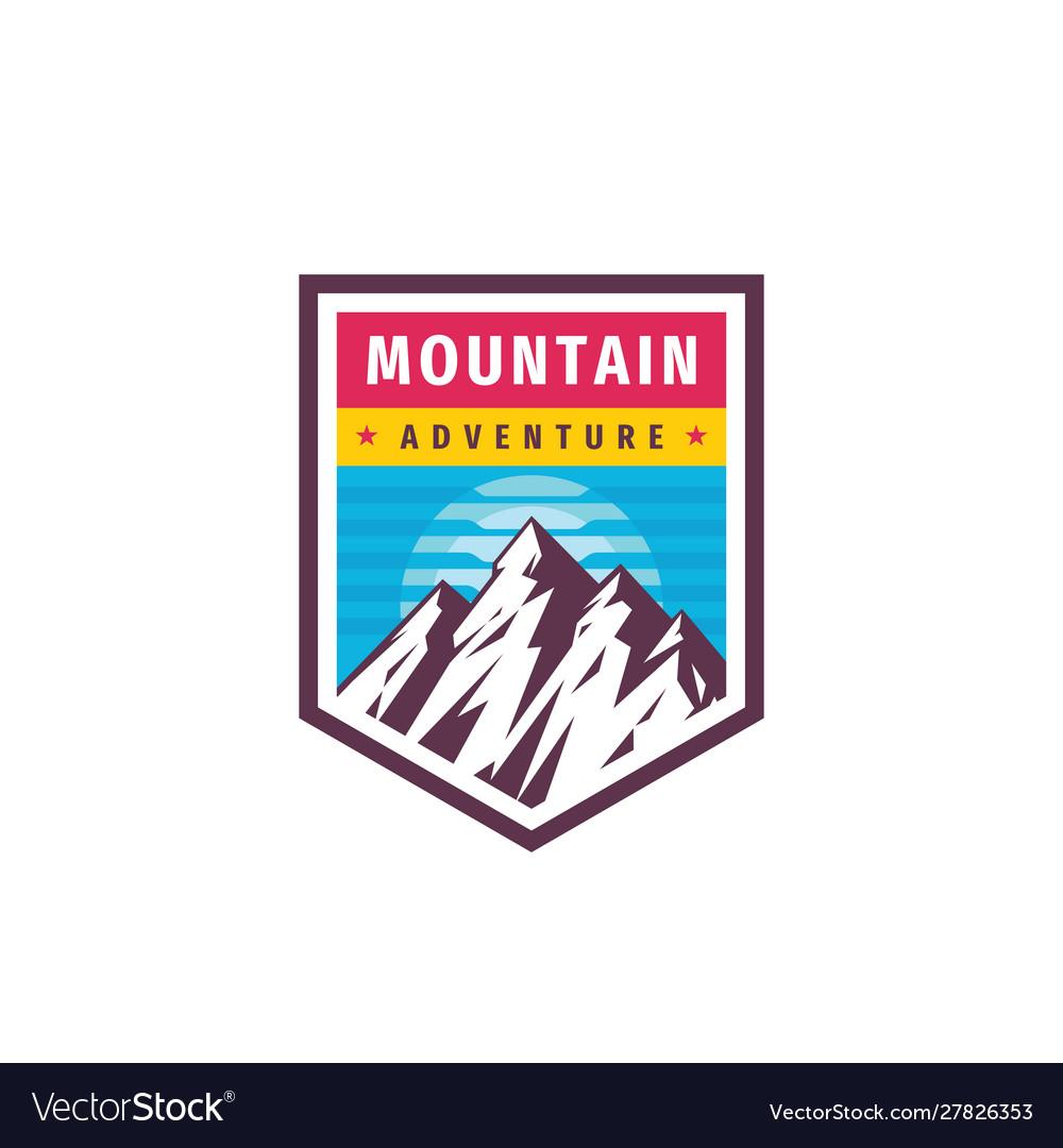 Mountain adventure - concept logo badge