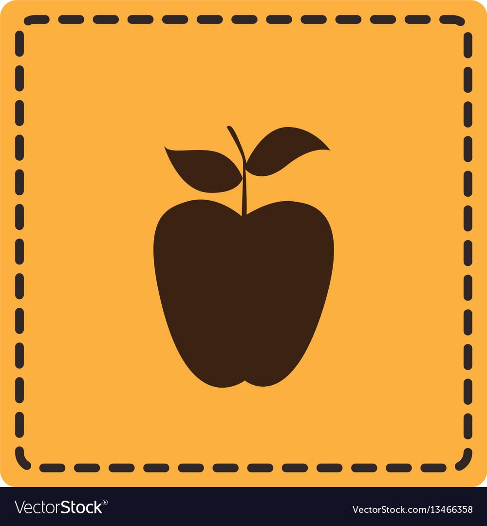 Color emblem apple fruit icon