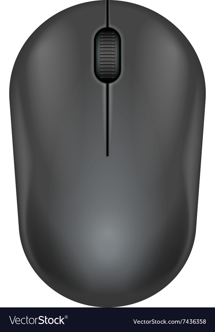 Dark gray realistic computer mouse
