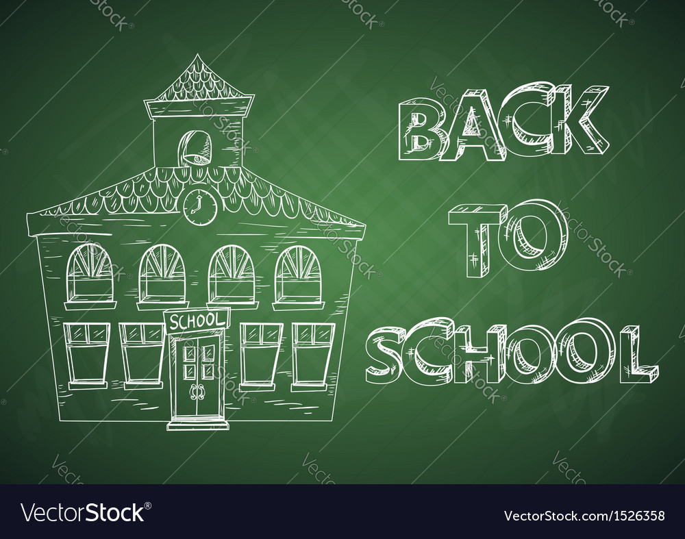 Education back to school house vector image