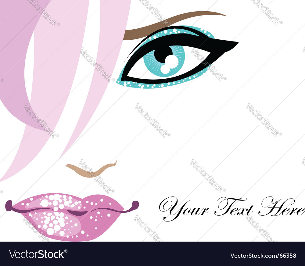 Glamour background with face vector image