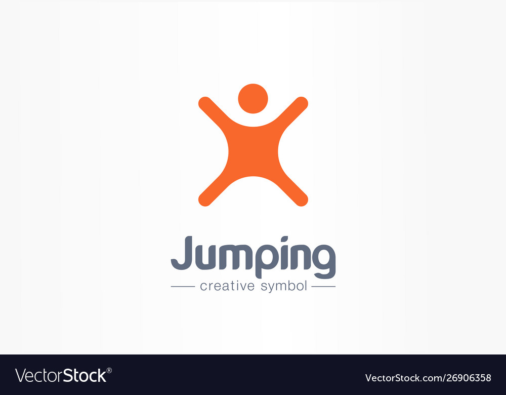 Jumping Playing Freedom Creative Symbol Concept