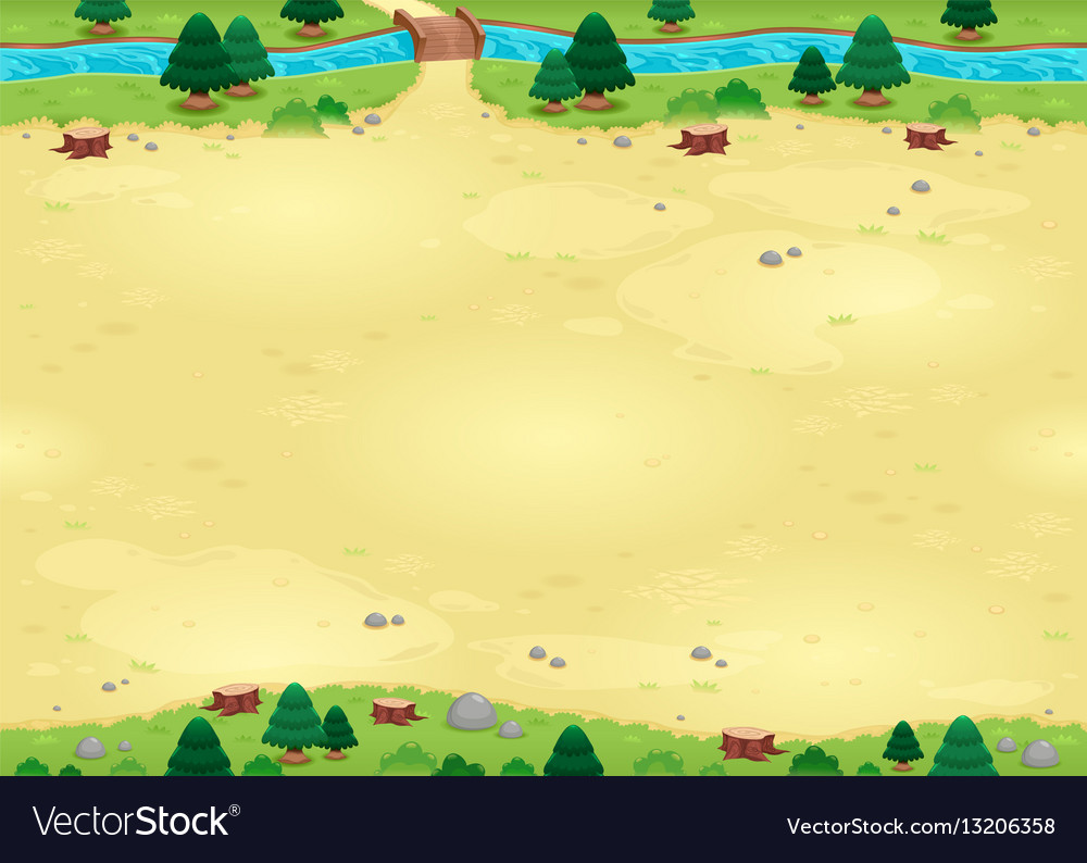 Nature background for games with endless sides