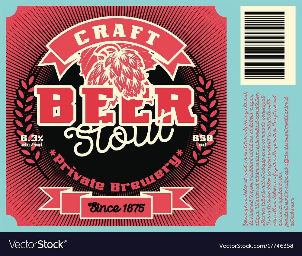 Vintage frame design for beer label
