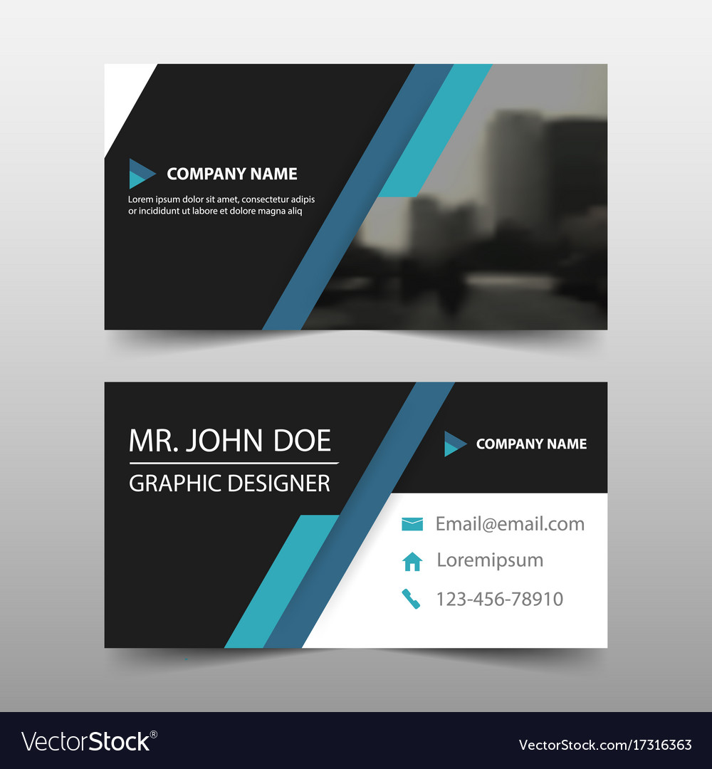 Blue black corporate business card name card vector image reheart Images