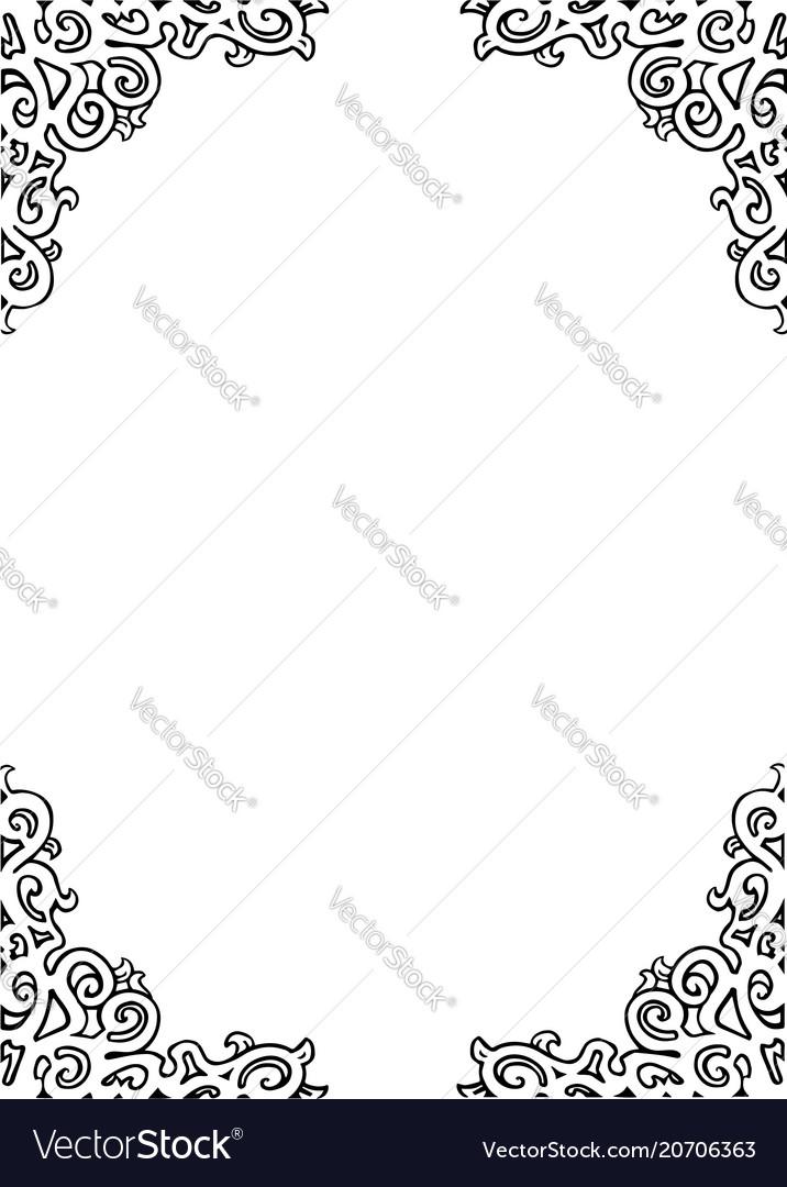 Decorative frame design curves