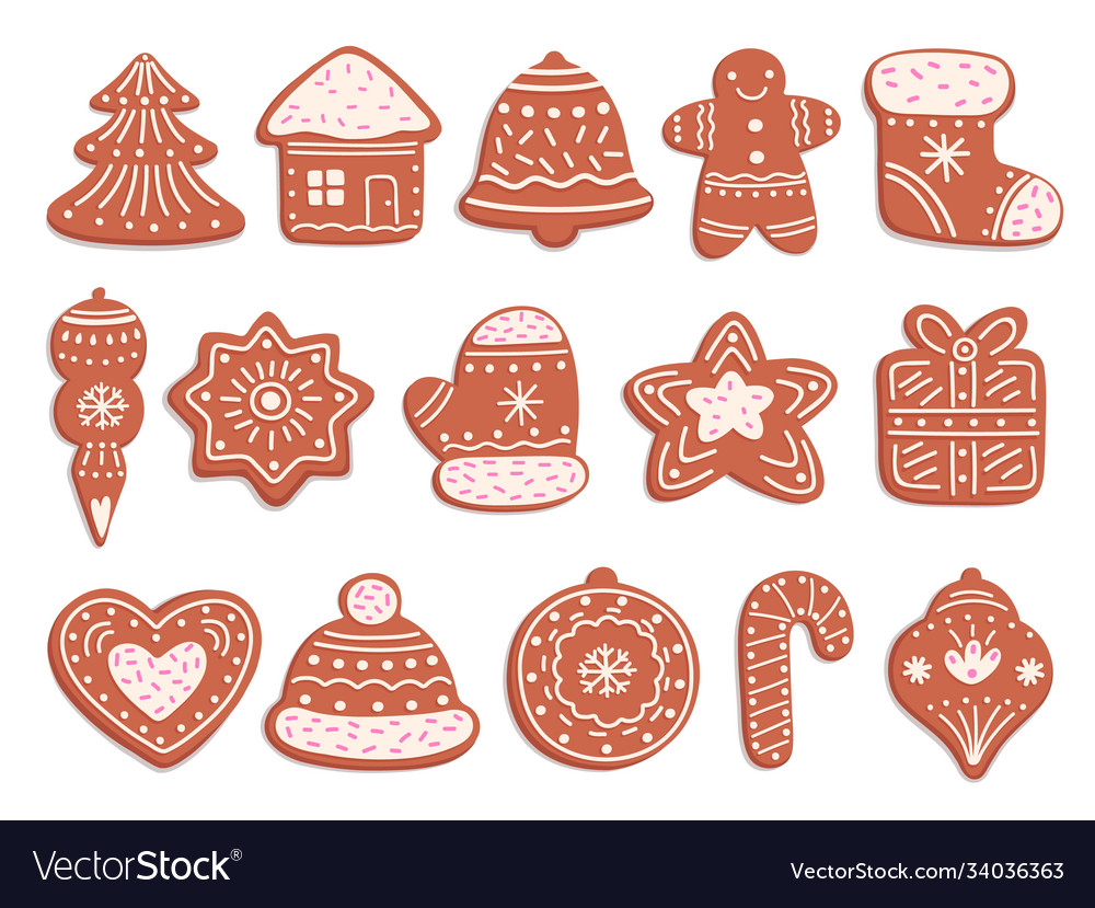 Gingerbread cookies christmas bread ornament