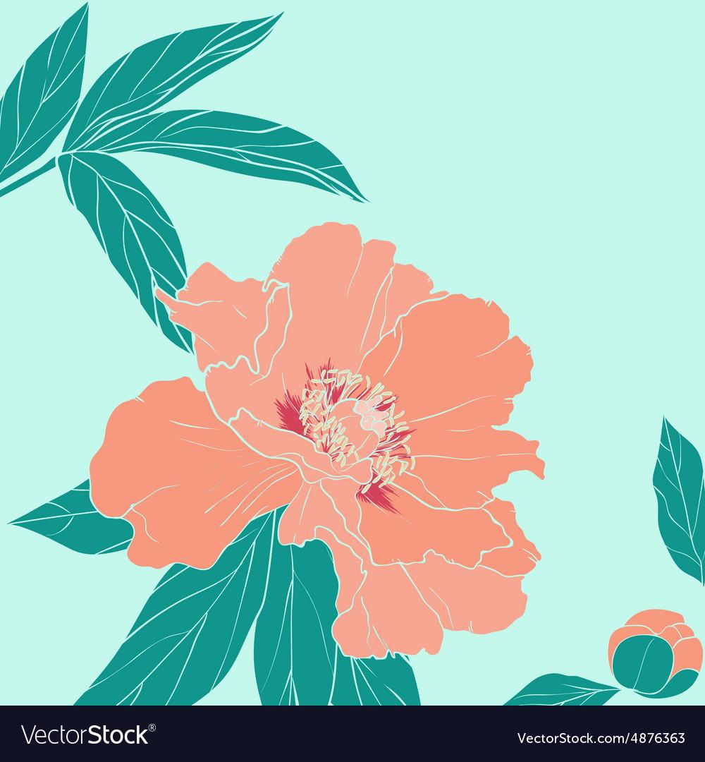 Hand drawn ornate flower