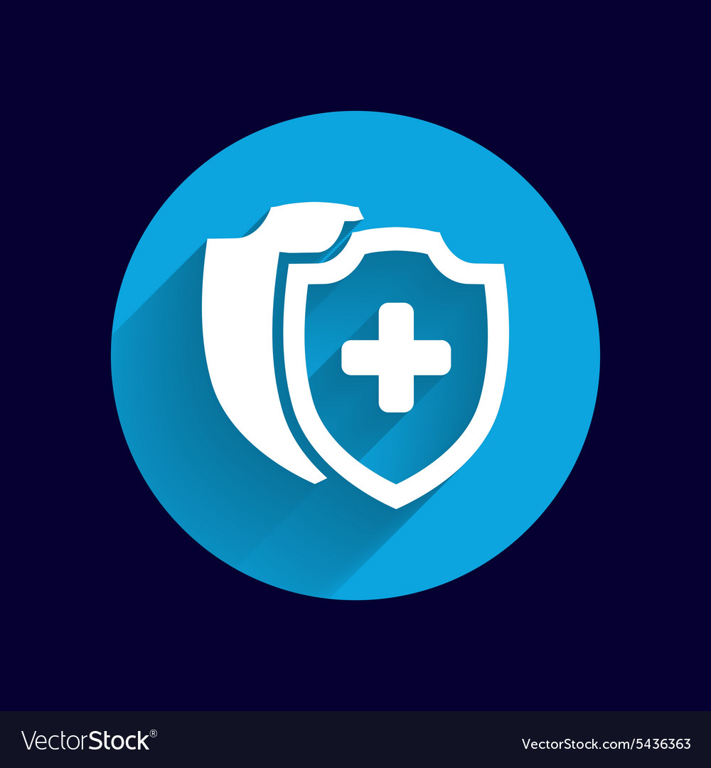 Medical Shield Icon shield flat health