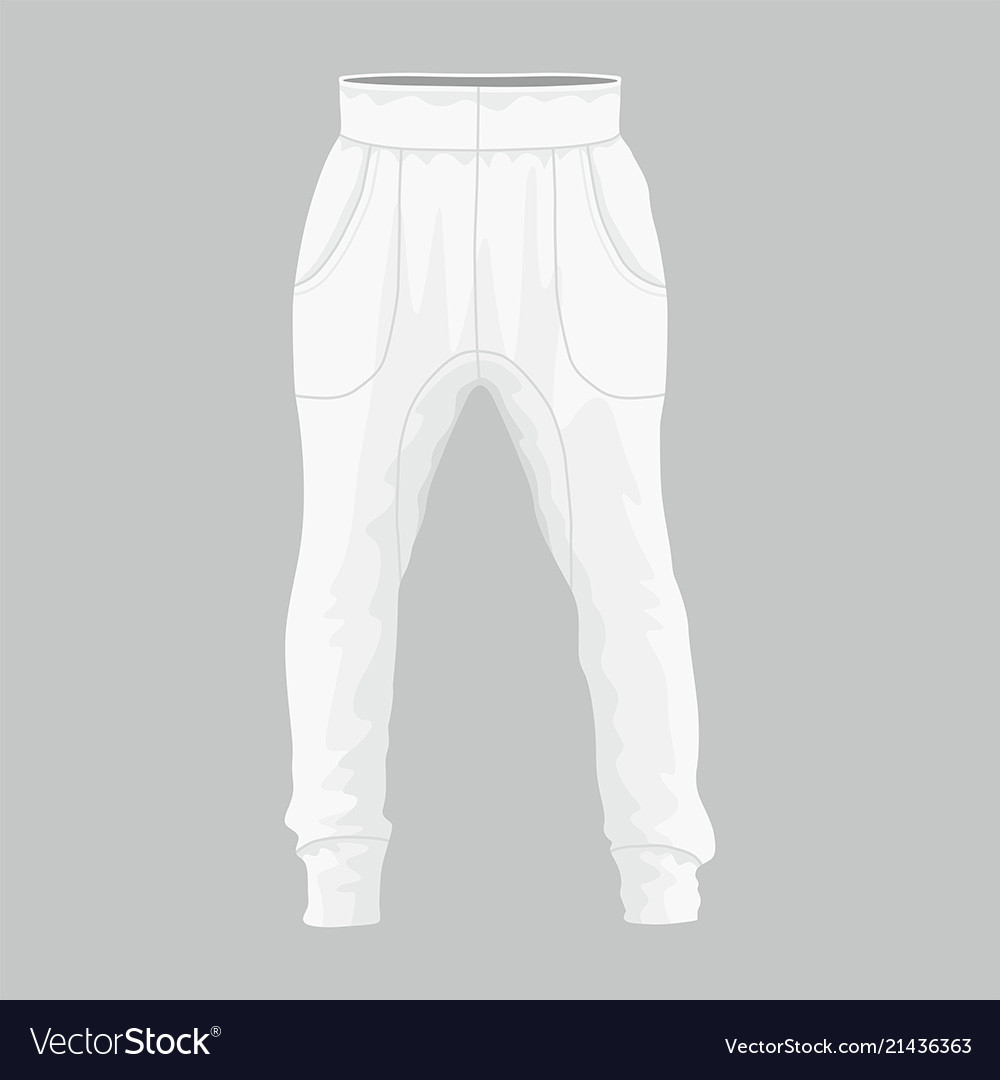 Mens white sweatpants