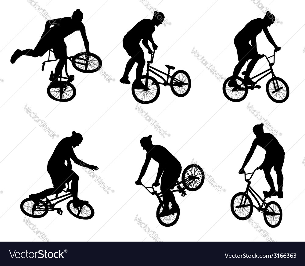 Stunt bicyclists