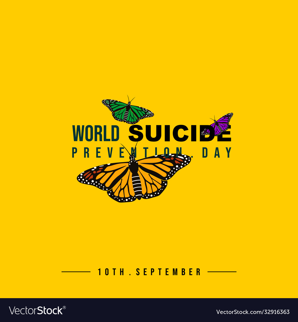 Typography for world suicide prevention day