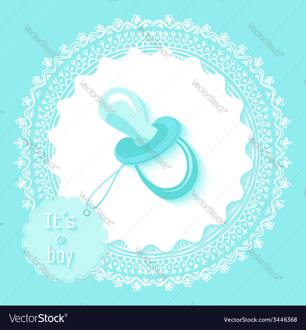 Baby Shower Boy Invitation Card Design Royalty Free Vector