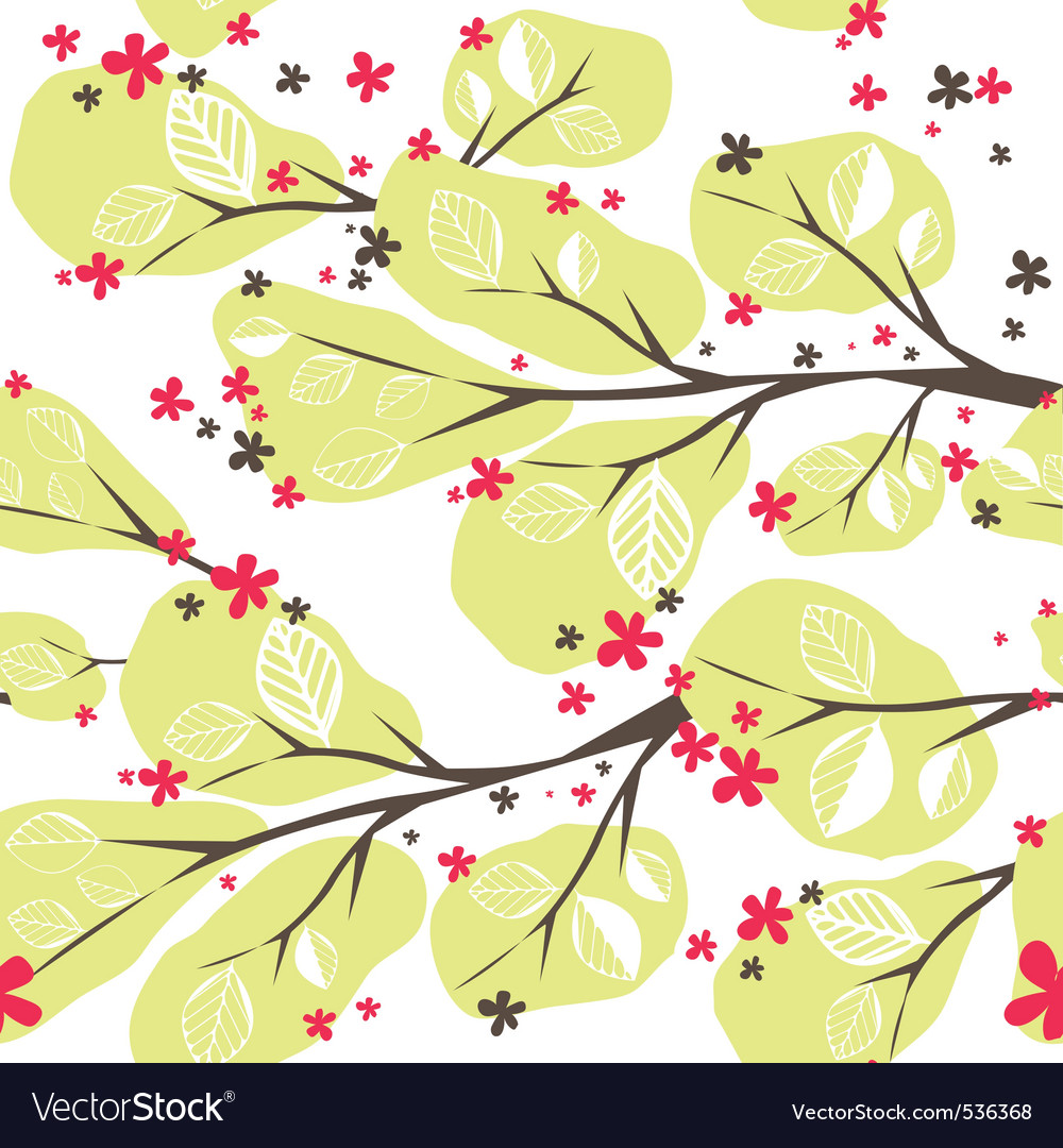 Background with tree vector illustration