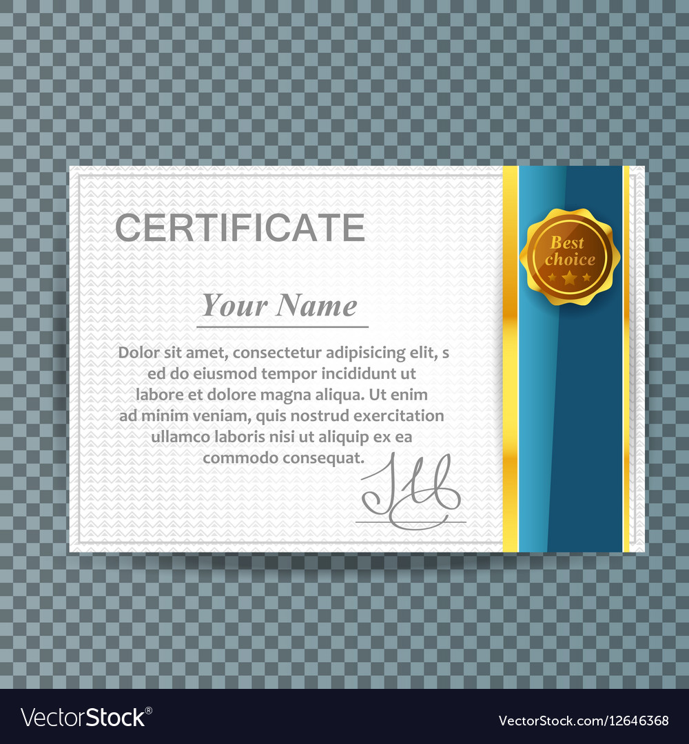 Certificate template design business award