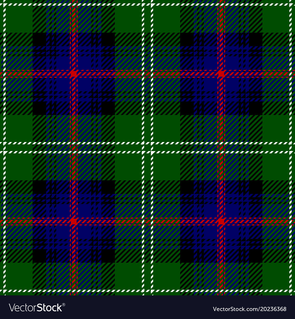 Clan Sutherland Scottish Tartan Plaid Seamless Pat Vector Image
