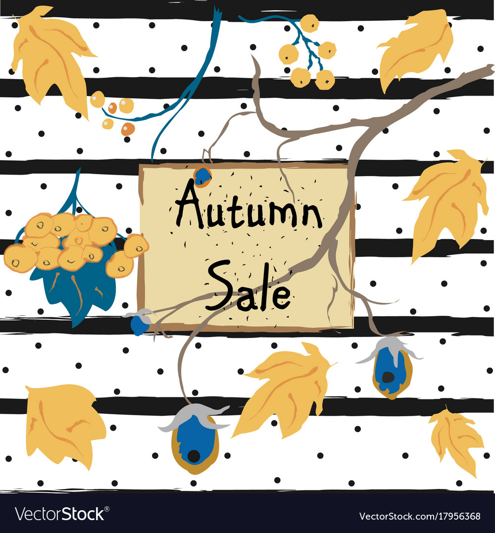 Fall sale card advertising