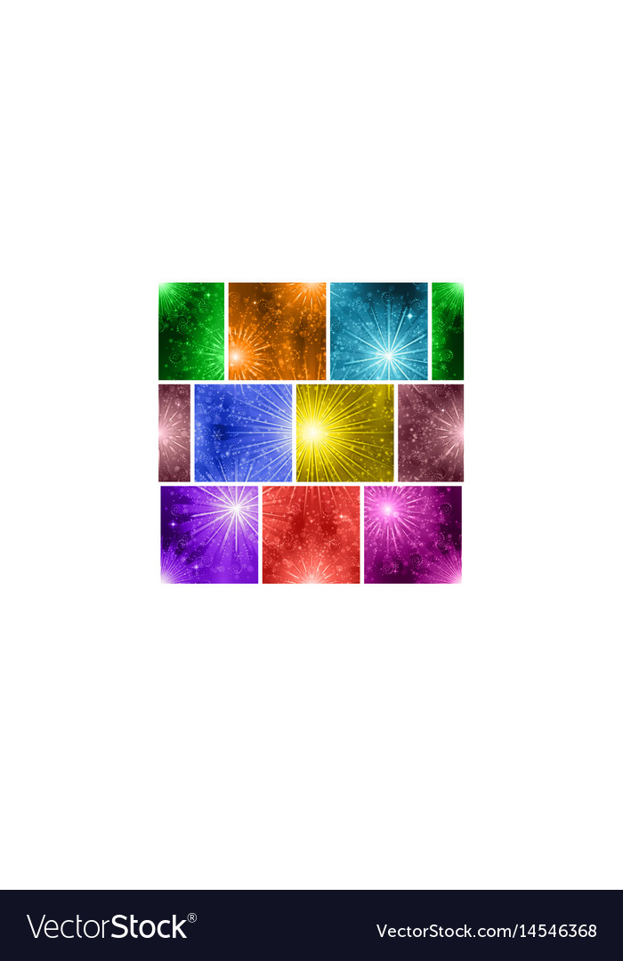 Fireworks seamless pattern