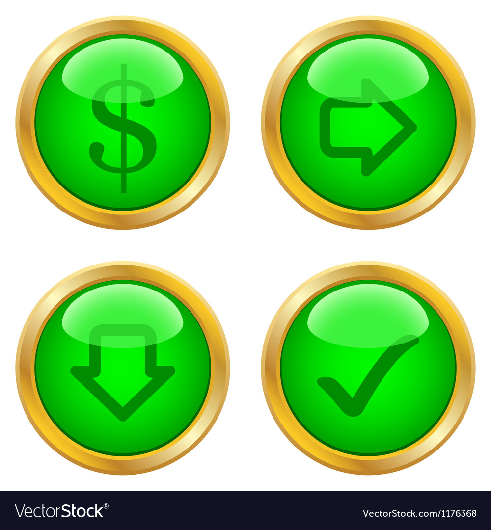 Green buttons for web