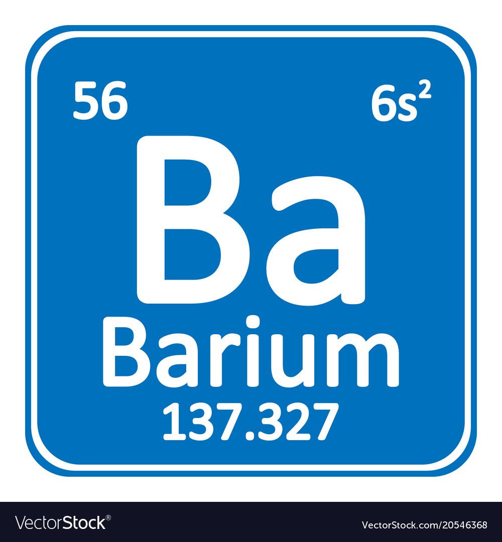 Periodic Table Element Barium Icon Royalty Free Vector Image