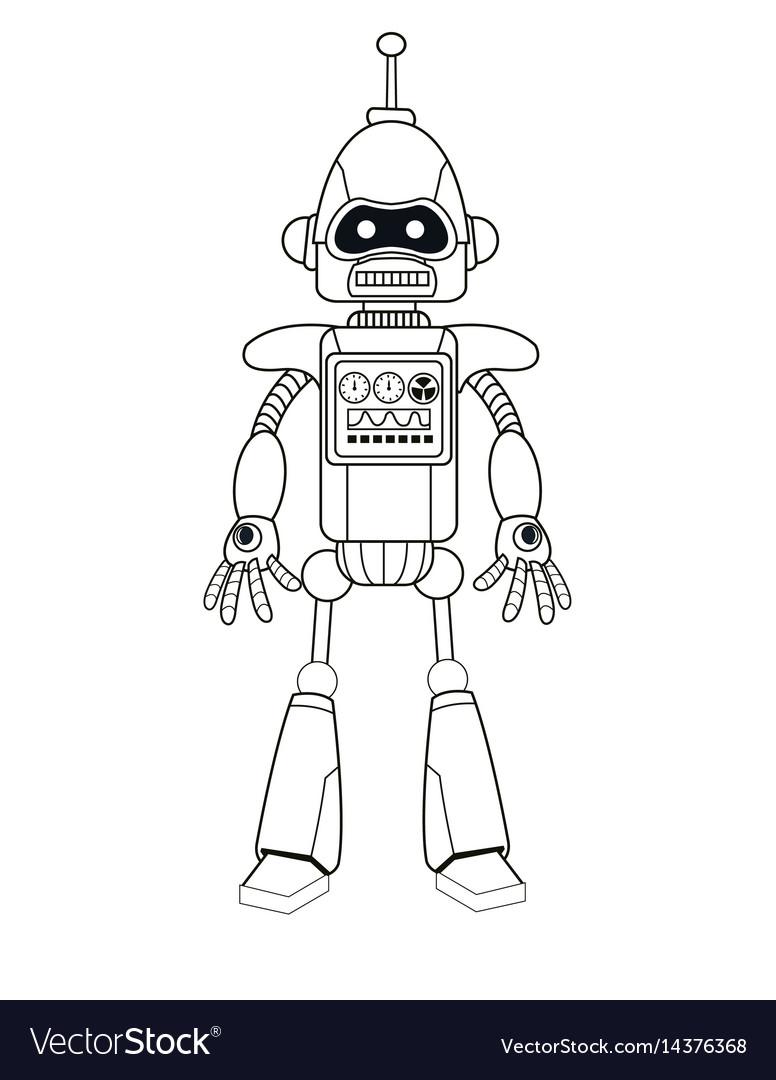 Robot machine engineering thin line