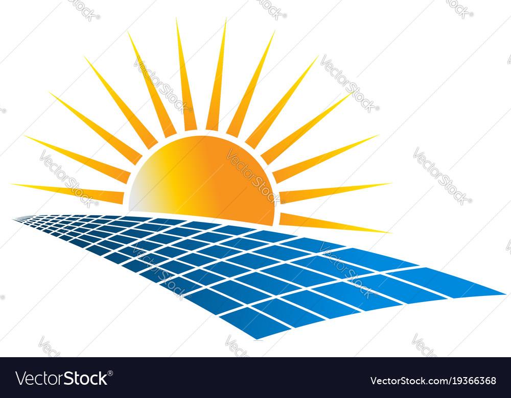 Solar Power Energy Logo Royalty Free Vector Image